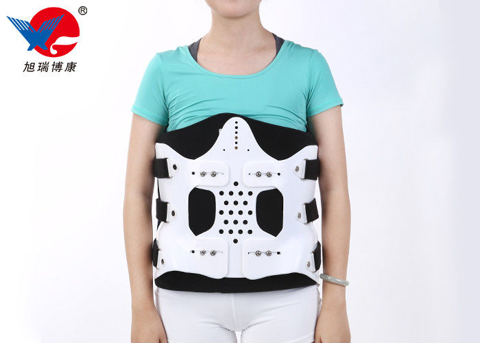 White And Black Medical Orthosis , Wear Comfortable Lumbosacral Orthosis Brace