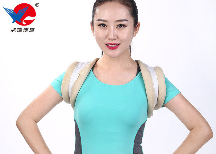 Ventilated Unisex Medical Posture Corrector , White Color Comfortable Posture Brace